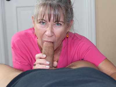 image Busty milf sucking dick and fucking
